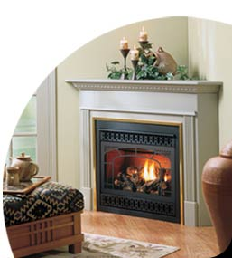 North Halton Heating gas fireplace